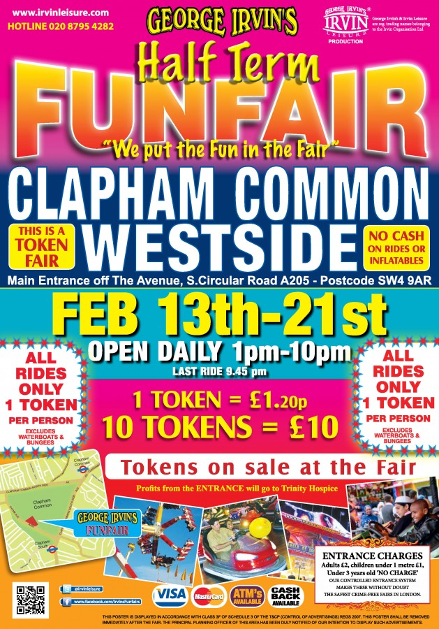 Clapham Funfair poster distribution