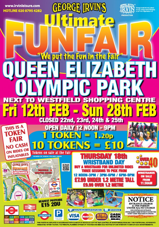 stratford funfair poster distribution