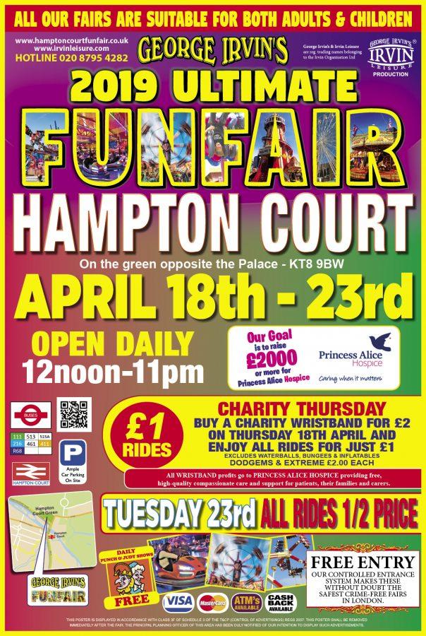 hampton court funfair posters