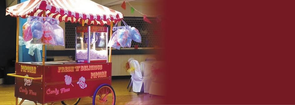 Food Carts with Popcorn