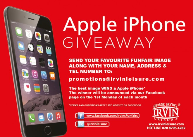 Apple iPhone Giveaway! - Fairground Ride Hire and Corporate