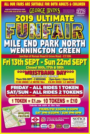 Upcoming Funfairs in London and surrounding areas Fairground