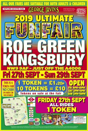 Upcoming funfairs in London and surrounding areas Fairground Ride